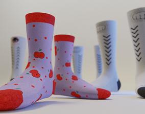 3D asset Full Mockup for socks