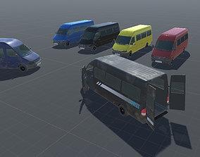 Realistic Van Vehicle Pack for Unity 3D asset