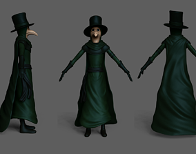 3D asset Plague Doctor Robe - Character Skin Costume