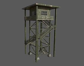 3D asset Military Watchtower 03