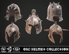 Orc Helmet Collection 3D model