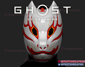3D print model Japanese Kitsune Fox Mask - Ghost of 2