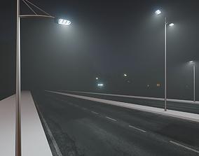 Street Light Poles 3D asset