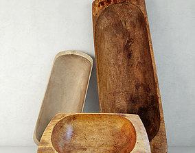3D Antique Dough Bowls 2