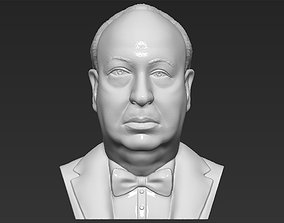 Alfred Hitchcock bust 3D printing ready stl obj formats