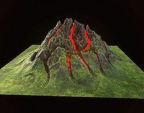 3D asset Fantasy mountain model for real time rendering