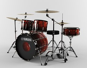 3D Yamaha drum set