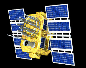 GPS Satellite 3D model
