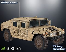 3D asset Military Humvee