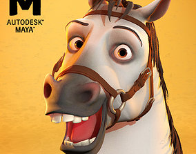 3D model animated GorgeousGeorge maya horse rig