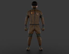 Sports car driver racer 3D asset