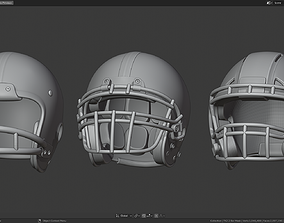 3D model Various Football Helmets