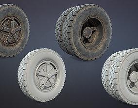 3D asset Truck Wheel 03 Kamaz-5320