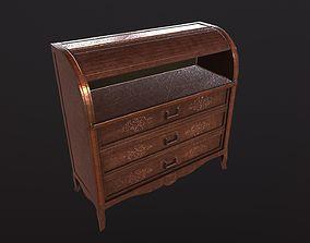 Classical Wooden Cupboard 3D asset