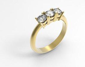 3D printable model Trilogy Ring