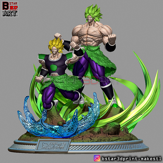 Broly Diorama - from Broly movie 2019 3D print model