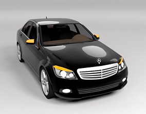 3D model MERCEDES C CLASS LOWPOLY
