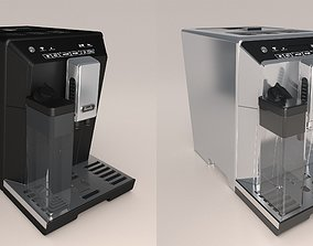 Coffee Machine Steel and Matt Finish 3D model