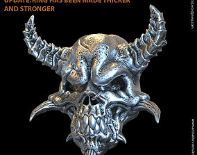 3D print model Demon skull vol1 biker ring