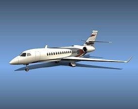Dassault Falcon 5x private jet 3D