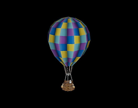 3D asset Hot Air Balloon - Low Poly