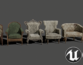 Armchairs Kit 3D model realtime