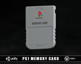 3D model Retro PS1 Memory Card