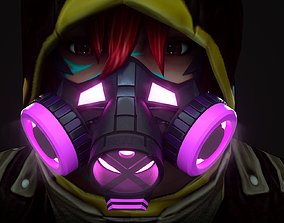 Gas mask protection isolated equipment armor Hard 3D model