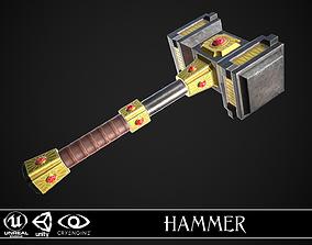 3D asset Fantasy Hammer 03