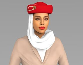 Emirates Airline stewardess ready for full color 3D 1