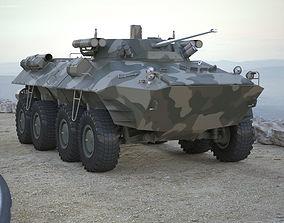 Armoured Transporter BTR 90 RIGGED 3D asset