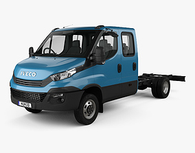 3D model Iveco Daily Dual Cab Chassis 2017