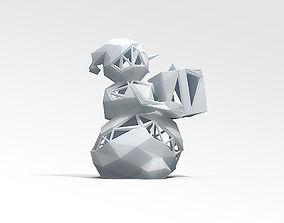 Snowman STL 3D printable model