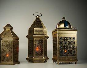 ramadan lanterns 3D model