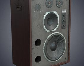 3D model Speaker retro