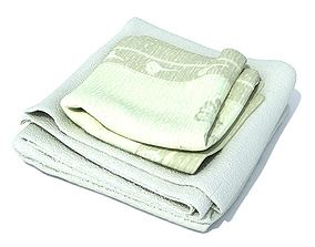 Green Towels Set 3D