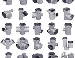 Sewer pipes collection counstraction 3D model
