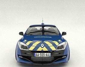gendarmerie Renault Megane RS security 3D model