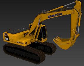 Komatsu PC200 excavator 3D model