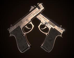 Beretta M9 3D model game-ready