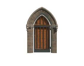 Medieval Doorway 3D model game-ready
