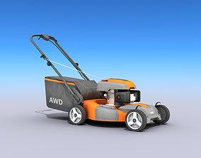 Lawn Mower 3D asset