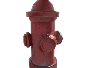 road Fire Hydrant 3D model