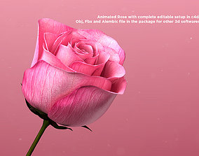 nature animated 3d Rose Animated