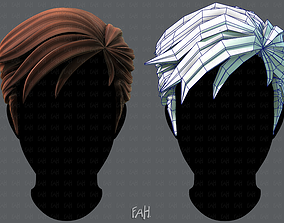 low-poly 3D Hair style for Man V02