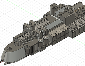 3D print model Kobold class ship Battle Fleet Gothic