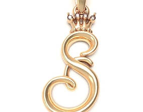 Alphabet Initial pendant letter 3D printable model