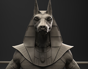 3D model sphinx Anubis Egyptian God