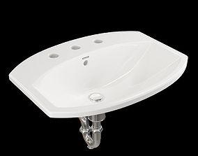 Kohler Elmbrook drop-in bathroom sink 3D
