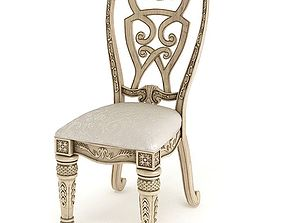 Antique Cushioned Chair 3D model